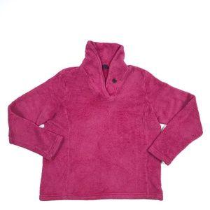 Lands' End Nubbly Fleece Pullover Jacket